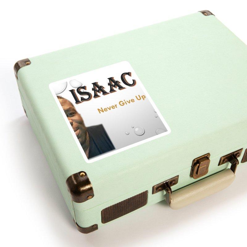 Isaac M - T-shirt - Never give up Accessories Sticker by 8010az's Shop