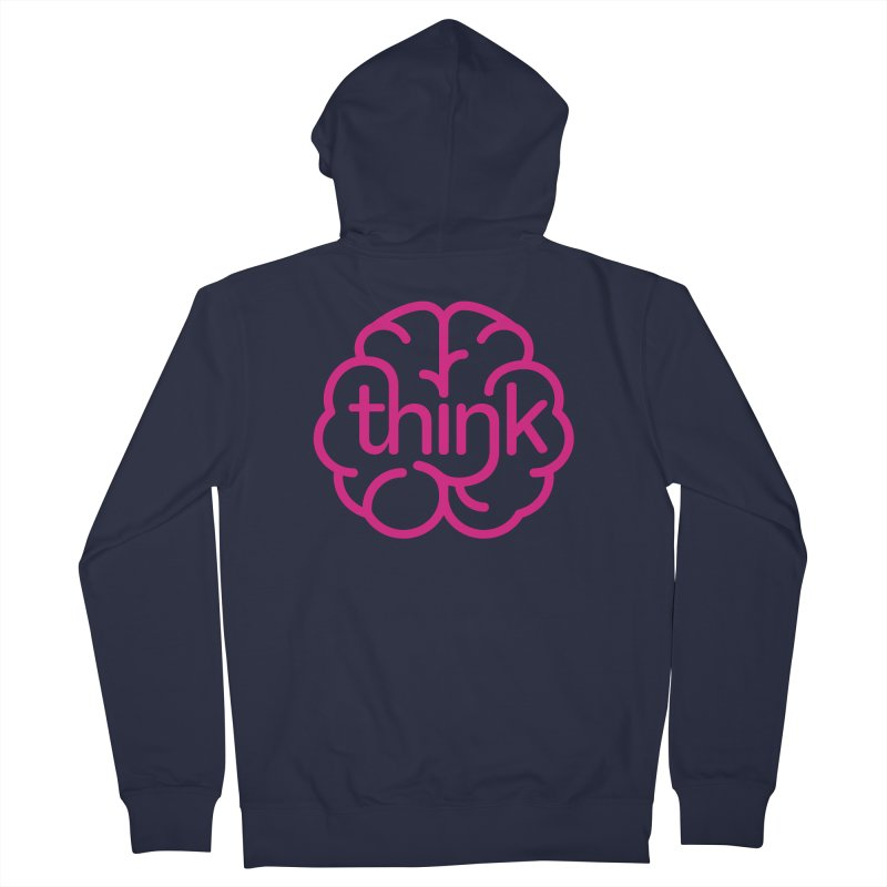 think Men's Zip-Up Hoody by 804jason's Artist Shop