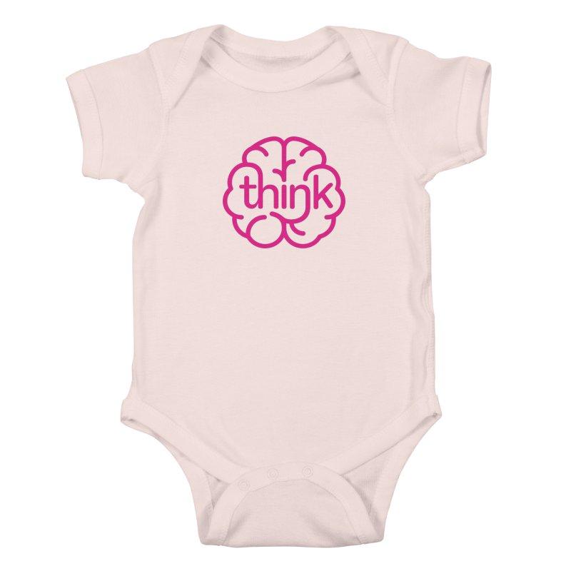 think Kids Baby Bodysuit by 804jason's Artist Shop