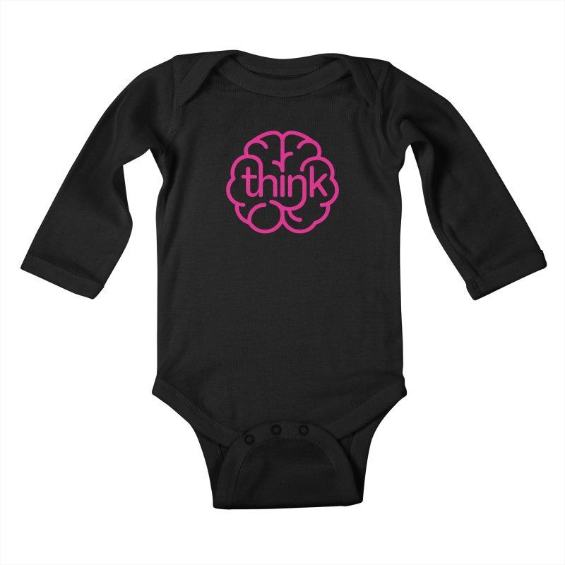 think Kids Baby Longsleeve Bodysuit by 804jason's Artist Shop