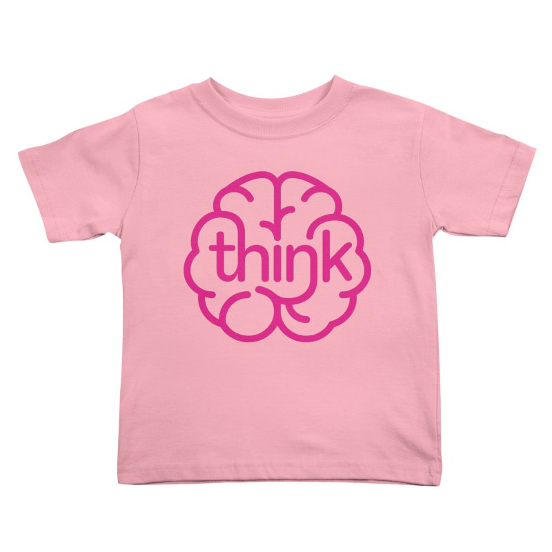 think Kids Toddler T-Shirt by 804jason's Artist Shop