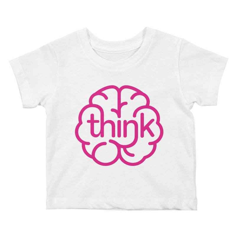 think Kids Baby T-Shirt by 804jason's Artist Shop