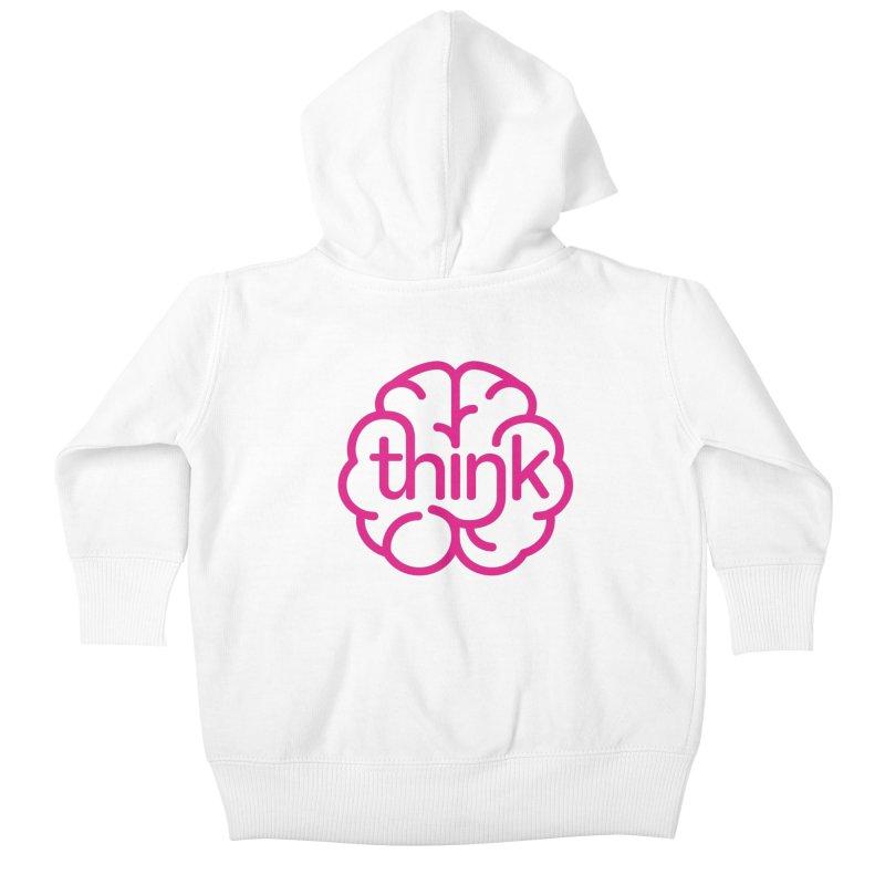think Kids Baby Zip-Up Hoody by 804jason's Artist Shop