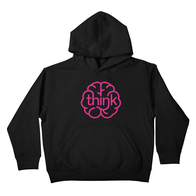 think Kids Pullover Hoody by 804jason's Artist Shop