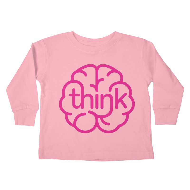think Kids Toddler Longsleeve T-Shirt by 804jason's Artist Shop