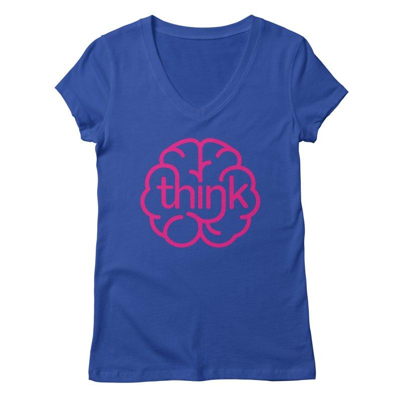 think Women's V-Neck by 804jason's Artist Shop