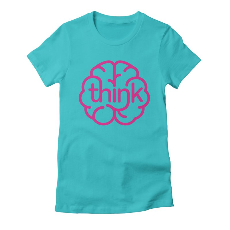 think Women's Fitted T-Shirt by 804jason's Artist Shop
