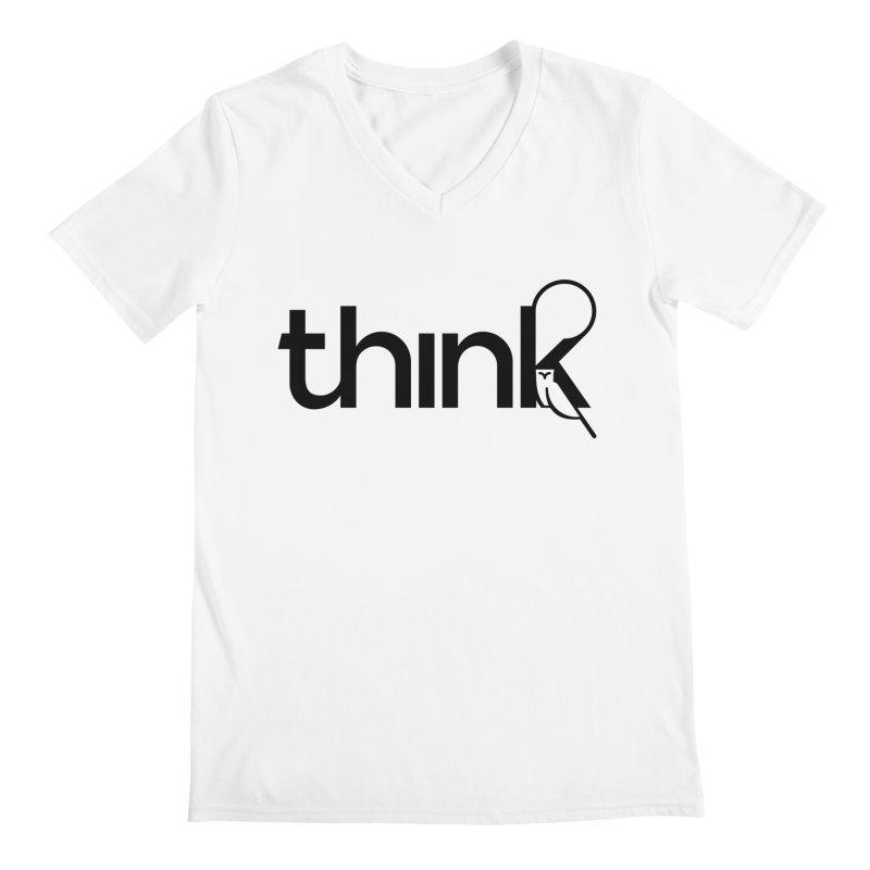 think outside Men's V-Neck by 804jason's Artist Shop