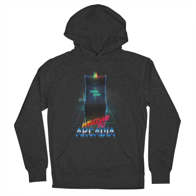 Arcadia Women's French Terry Pullover Hoody by 80's Pixels's Shop