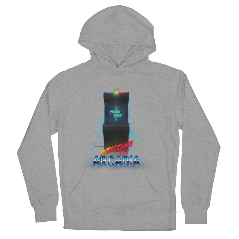 Arcadia Men's French Terry Pullover Hoody by 80's Pixels's Shop