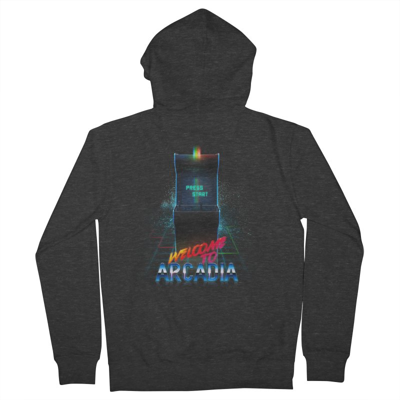 Arcadia Women's French Terry Zip-Up Hoody by 80's Pixels's Shop
