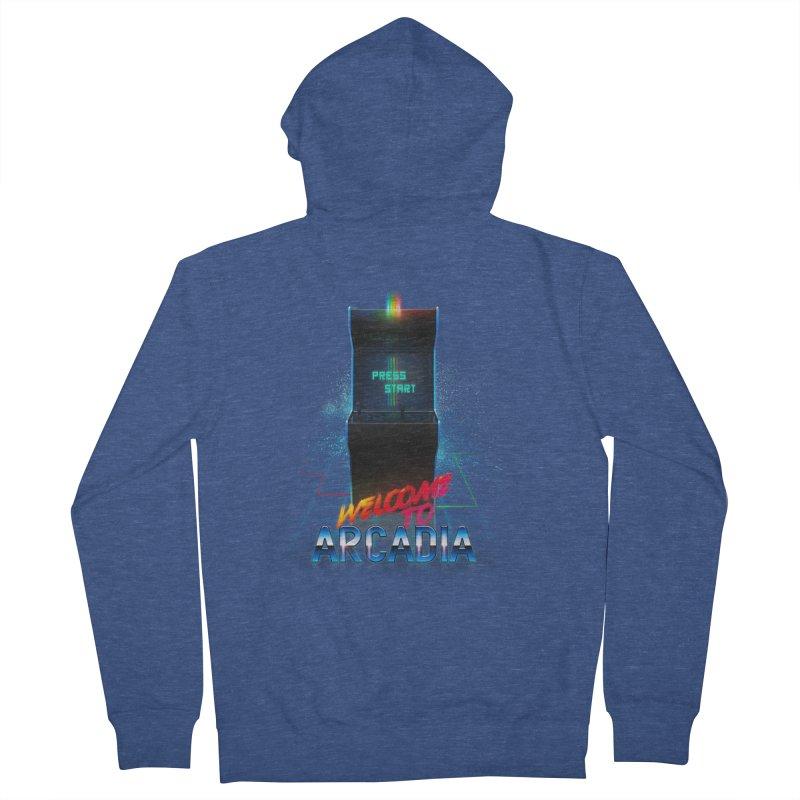 Arcadia Men's French Terry Zip-Up Hoody by 80's Pixels's Shop