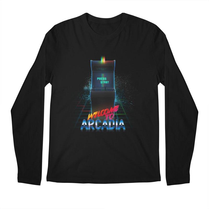 Arcadia Men's Regular Longsleeve T-Shirt by 80's Pixels's Shop