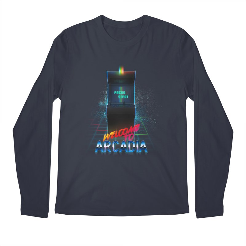 Arcadia Men's Regular Longsleeve T-Shirt by 80's Pixels's Shop