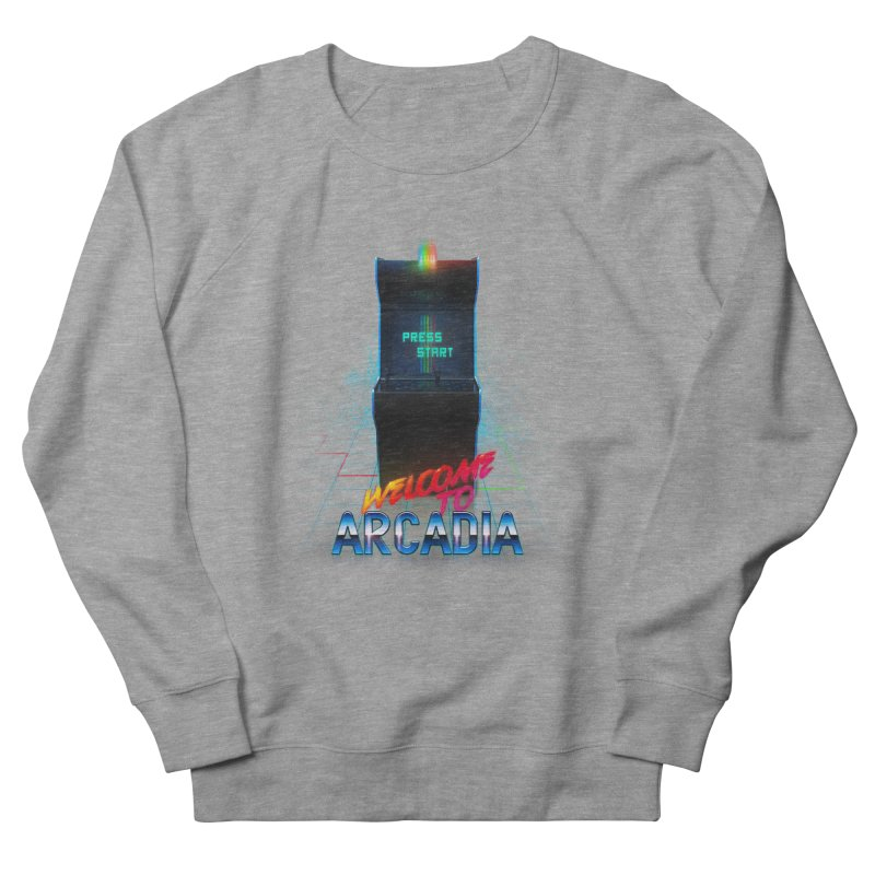 Arcadia Men's French Terry Sweatshirt by 80's Pixels's Shop