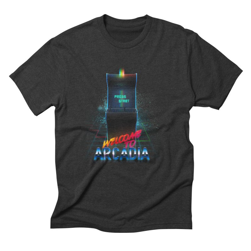 Arcadia Men's Triblend T-Shirt by 80's Pixels's Shop