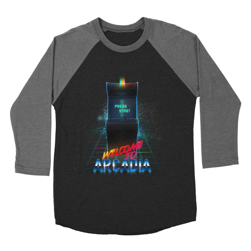 Arcadia Women's Baseball Triblend Longsleeve T-Shirt by 80's Pixels's Shop