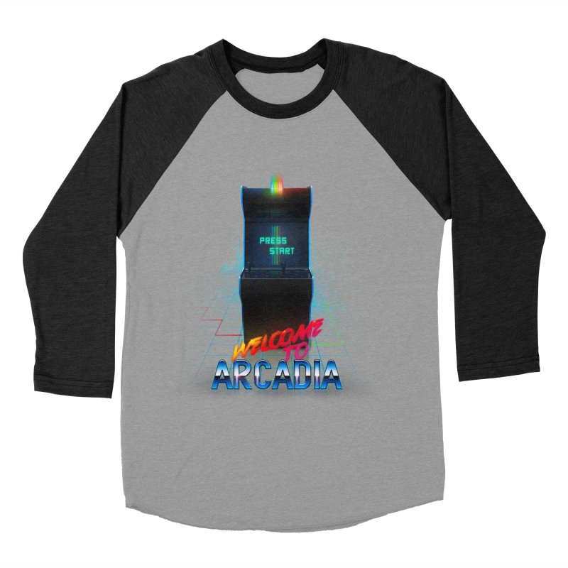 Arcadia Men's Baseball Triblend Longsleeve T-Shirt by 80's Pixels's Shop