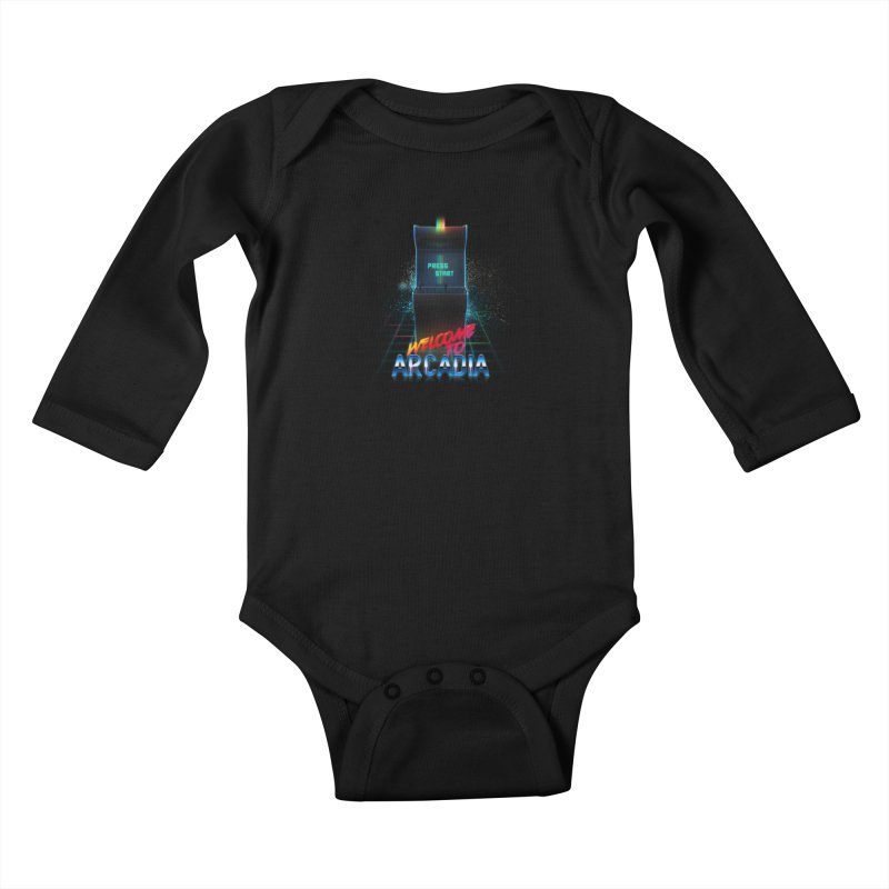 Arcadia Kids Baby Longsleeve Bodysuit by 80's Pixels's Shop