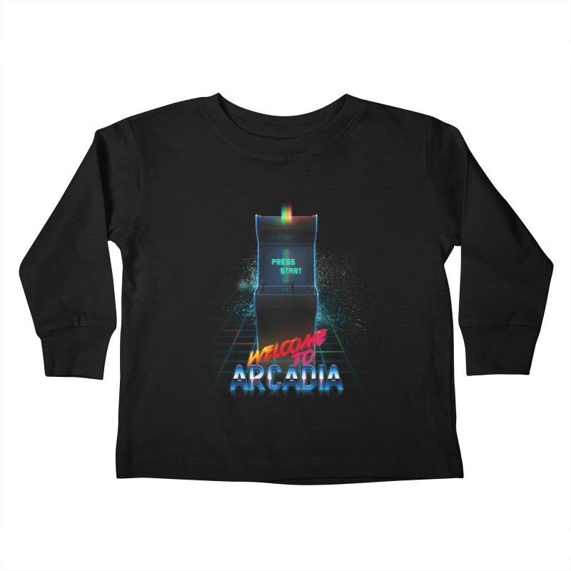 Arcadia Kids Toddler Longsleeve T-Shirt by 80's Pixels's Shop