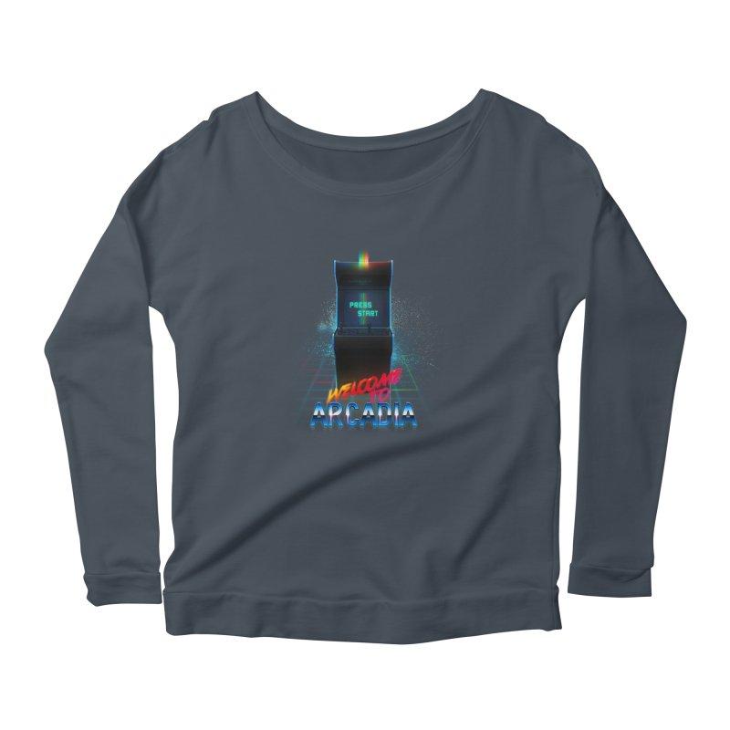Arcadia Women's Scoop Neck Longsleeve T-Shirt by 80's Pixels's Shop