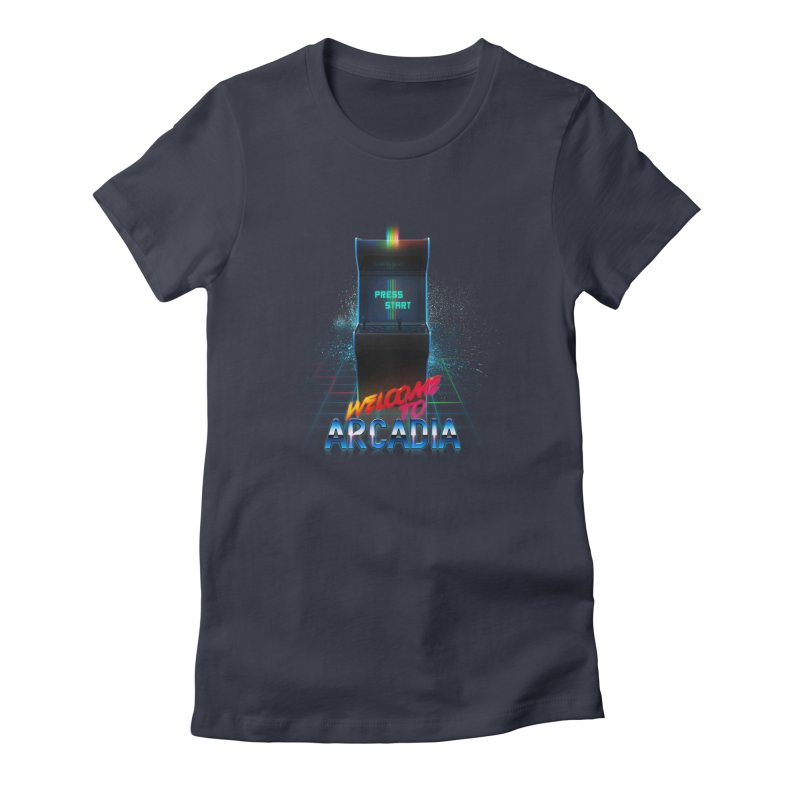 Arcadia Women's Fitted T-Shirt by 80's Pixels's Shop