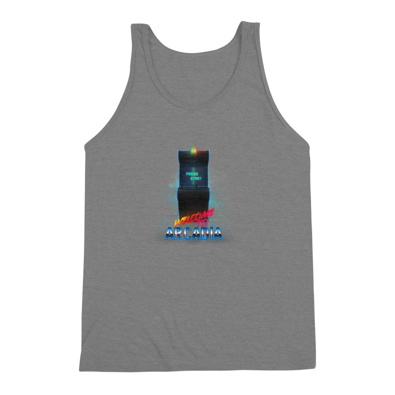Arcadia Men's Triblend Tank by 80's Pixels's Shop