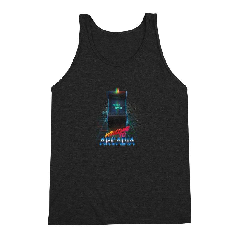 Arcadia Men's Triblend Tank by 80's Pixels's Shop