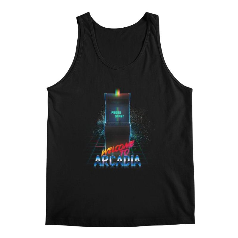 Arcadia Men's Regular Tank by 80's Pixels's Shop