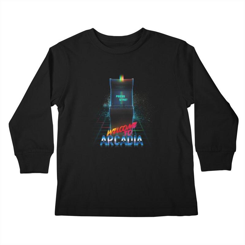 Arcadia Kids Longsleeve T-Shirt by 80's Pixels's Shop