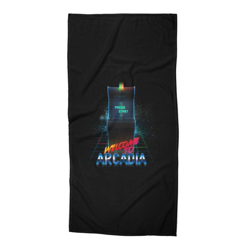 Arcadia Accessories Beach Towel by 80's Pixels's Shop