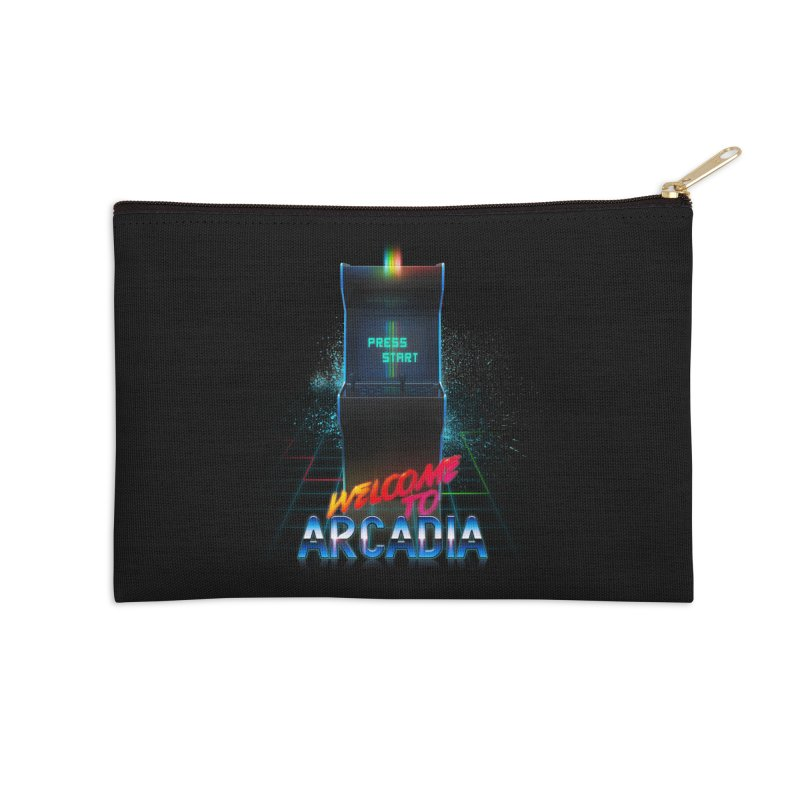 Arcadia Accessories Zip Pouch by 80's Pixels's Shop
