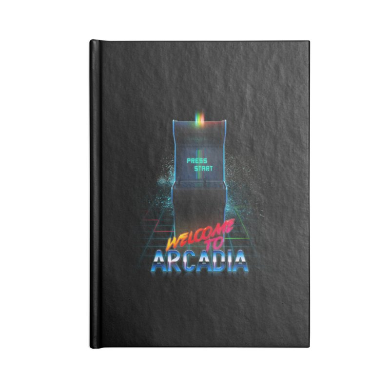 Arcadia Accessories Lined Journal Notebook by 80's Pixels's Shop