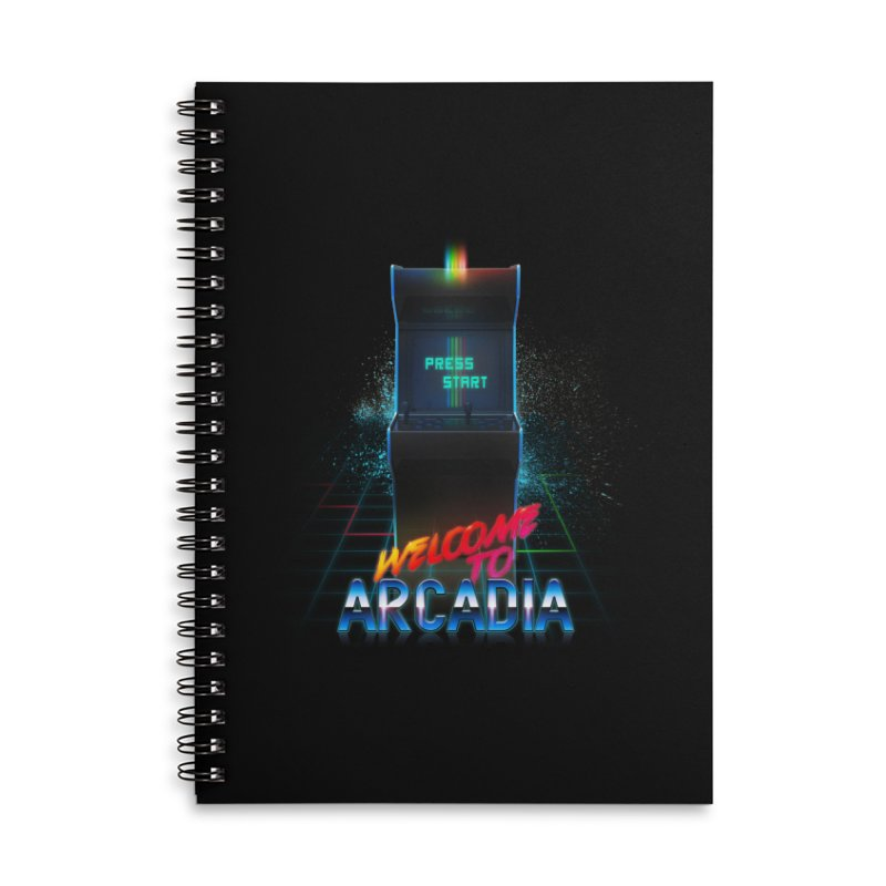 Arcadia Accessories Lined Spiral Notebook by 80's Pixels's Shop
