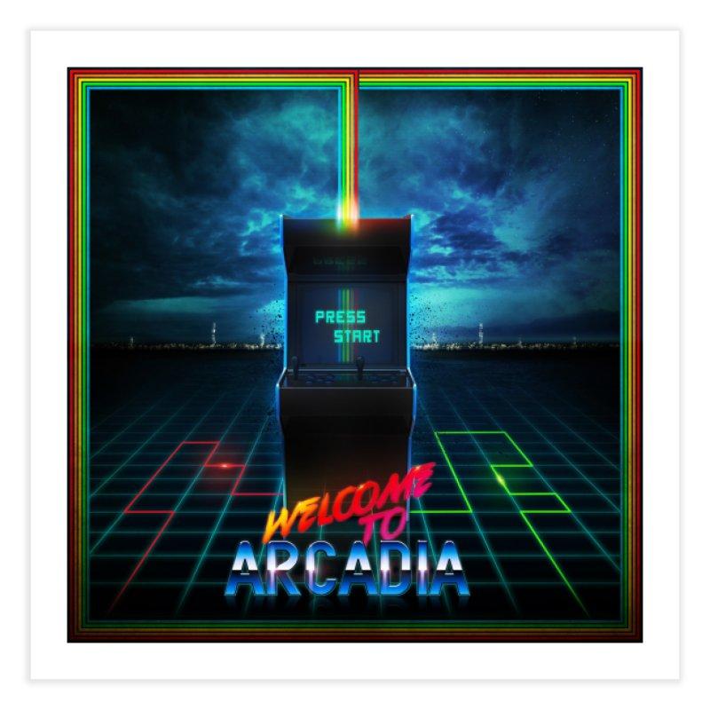 Arcadia Home Fine Art Print by 80's Pixels's Shop