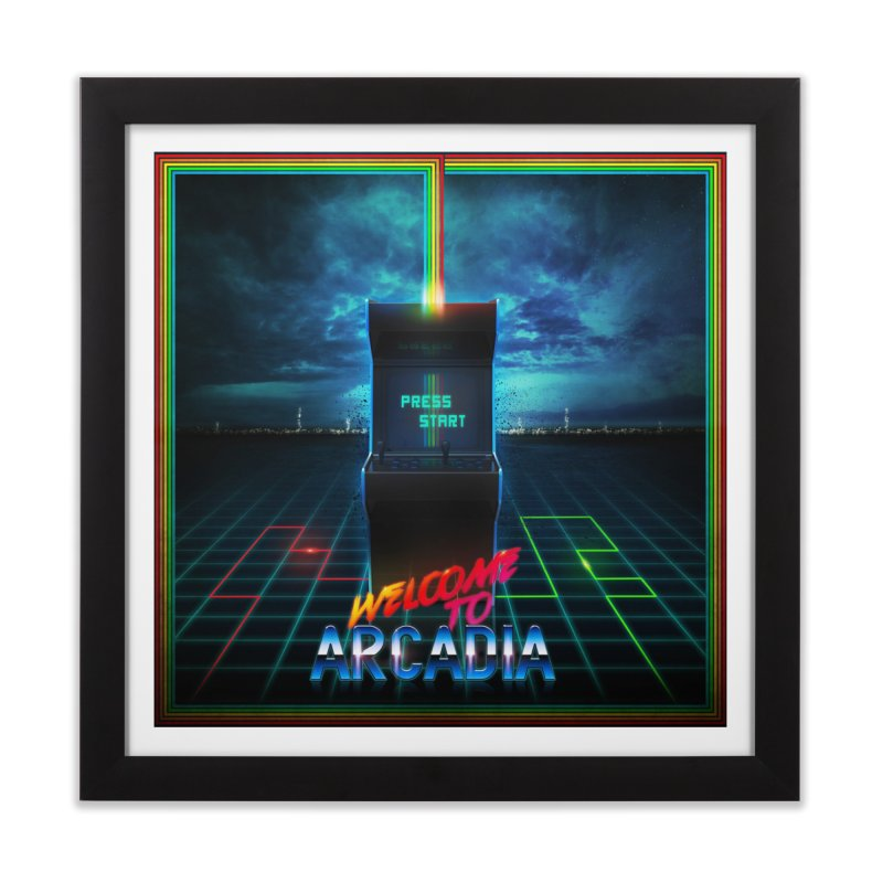 Arcadia Home Framed Fine Art Print by 80's Pixels's Shop