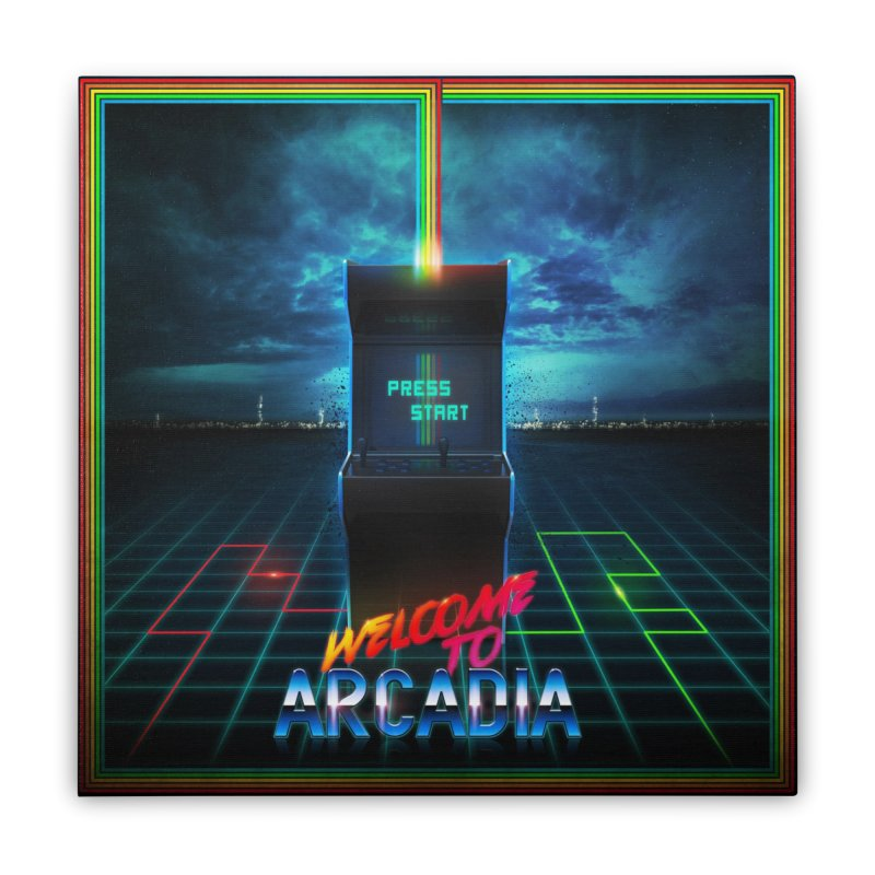 Arcadia Home Stretched Canvas by 80's Pixels's Shop