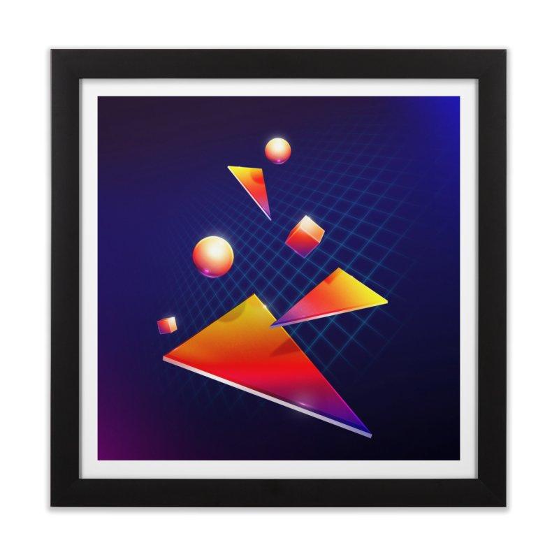 Shapes Home Framed Fine Art Print by 80's Pixels's Shop