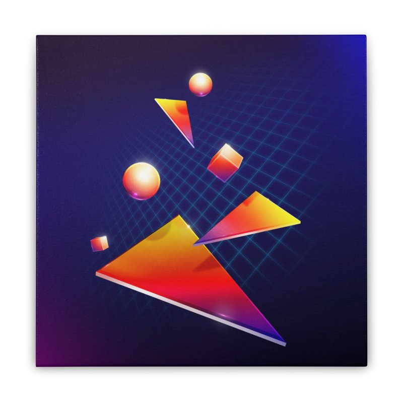 Shapes Home Stretched Canvas by 80's Pixels's Shop