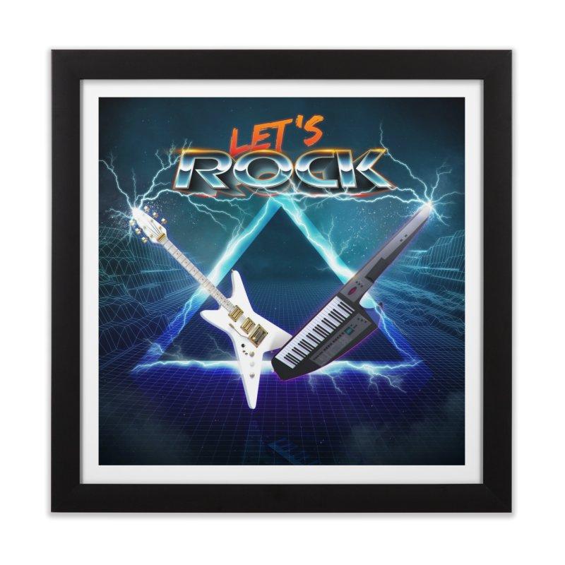 Let's Rock Home Framed Fine Art Print by 80's Pixels's Shop