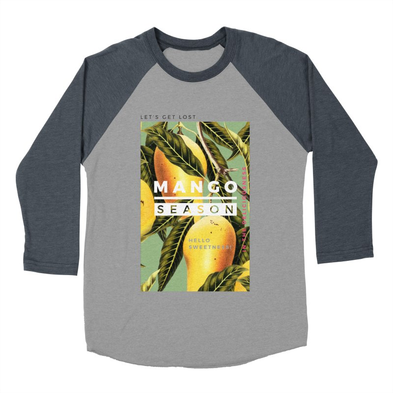 Mango Season Women's Baseball Triblend T-Shirt by 83oranges