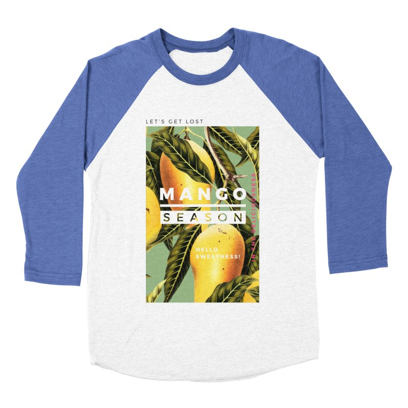 Mango Season Men's Baseball Triblend T-Shirt by 83oranges
