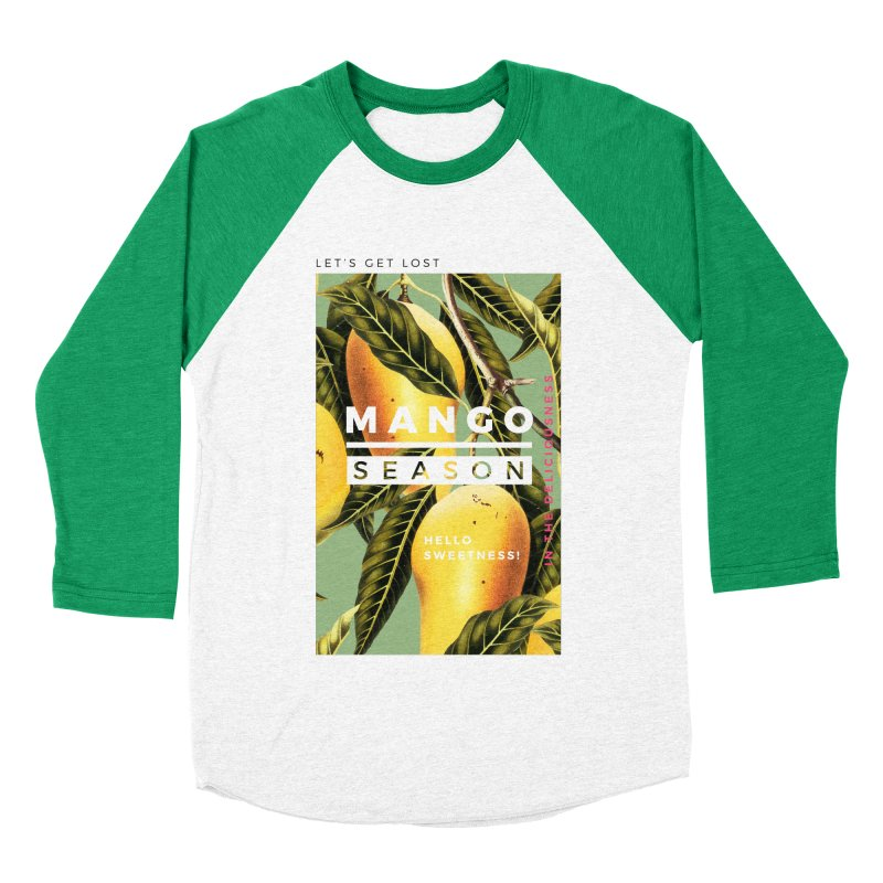 Mango Season Men's Baseball Triblend Longsleeve T-Shirt by 83oranges