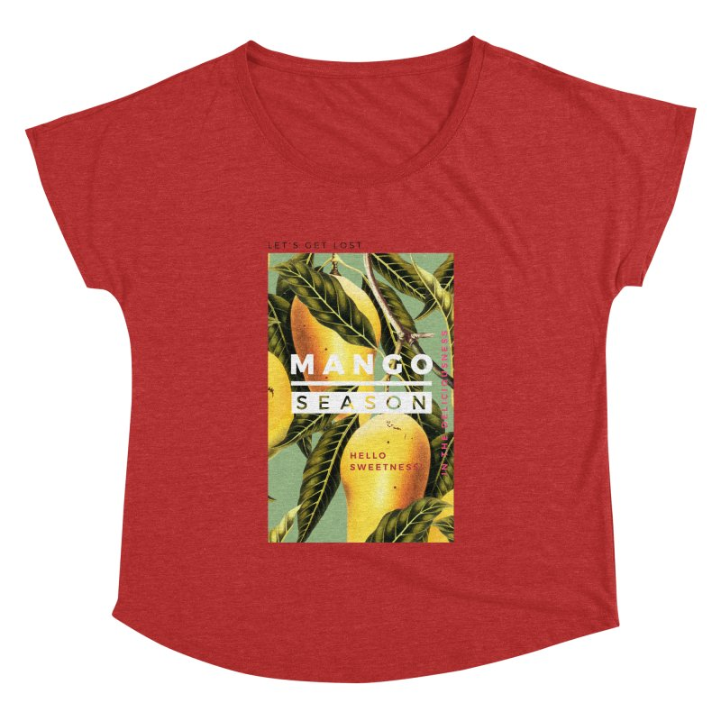 Mango Season Women's Dolman Scoop Neck by 83oranges