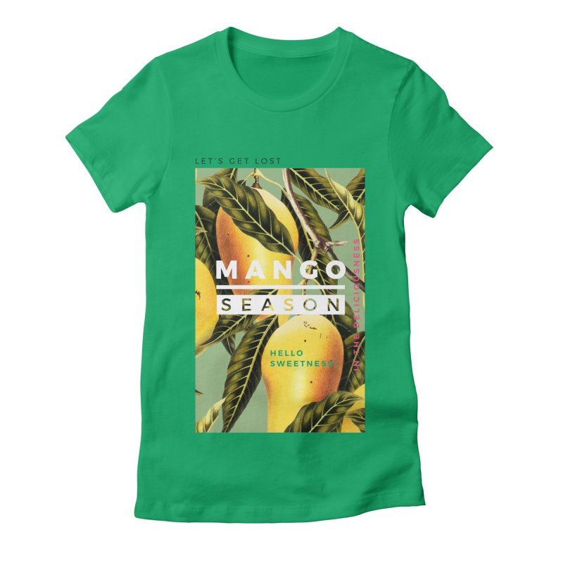 Mango Season Women's Fitted T-Shirt by 83oranges