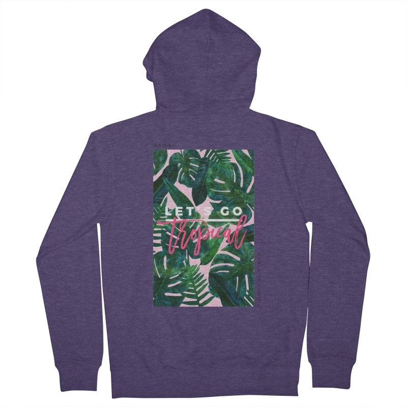 Let's Go Tropical Men's Zip-Up Hoody by 83oranges