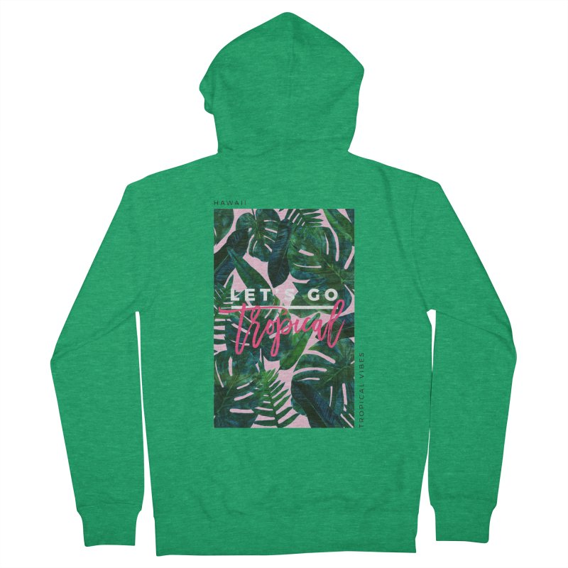 Let's Go Tropical Men's French Terry Zip-Up Hoody by 83oranges
