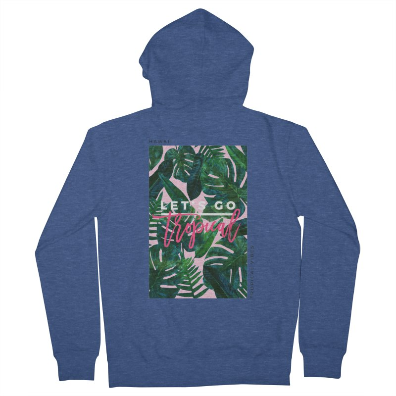 Let's Go Tropical Men's Zip-Up Hoody by 83oranges