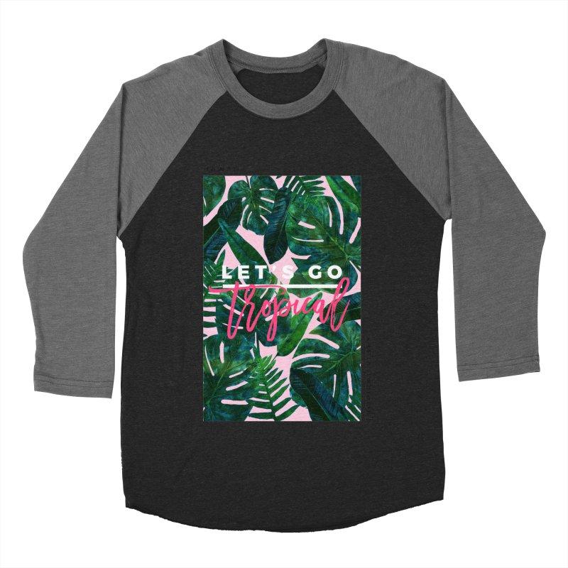Let's Go Tropical Men's Baseball Triblend T-Shirt by 83oranges