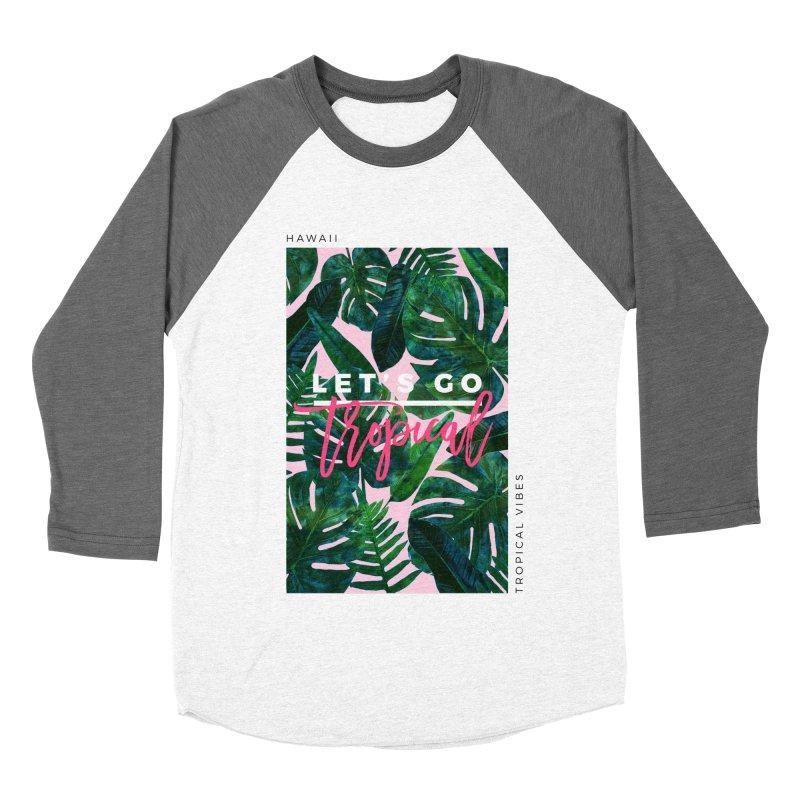 Let's Go Tropical Men's Baseball Triblend Longsleeve T-Shirt by 83oranges